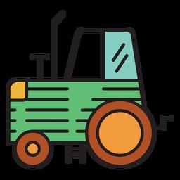 Tractor agrícola icono verde