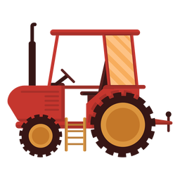 Farm tractor red icon
