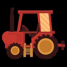 Ícone vermelho de trator agrícola