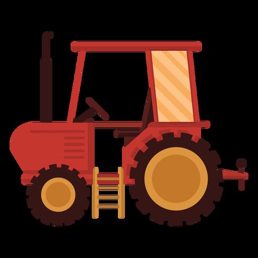 Icono rojo del tractor de granja
