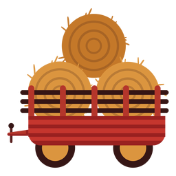 Farm wagon haybales icon