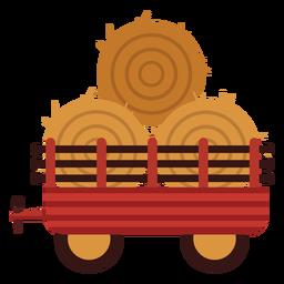 Ícone de haybales de vagão de fazenda