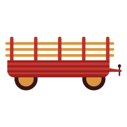 Farm wagon red icon