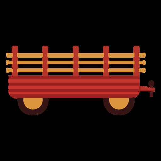 Icono de carro de granja rojo