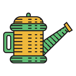 Farm watering can colored icon