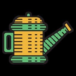 Icono de color de regadera de granja