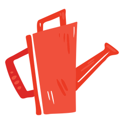 Farm watering can red icon