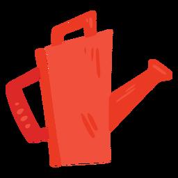 Icono rojo de regadera de granja
