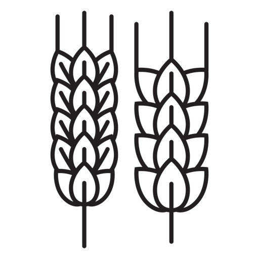 Icono de trigo de granja Transparent PNG