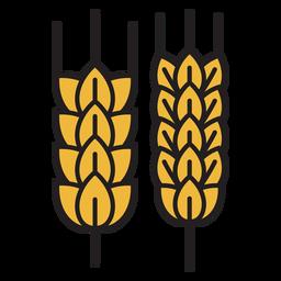 Fazenda ícone colorido de trigo