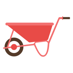 Farm wheelbarrow icon