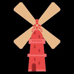 Icono de granja molino rojo