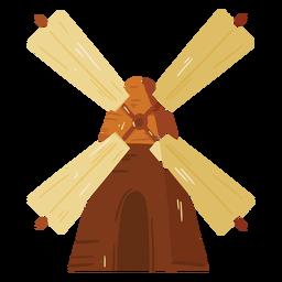 Icono de madera de molino de viento de granja