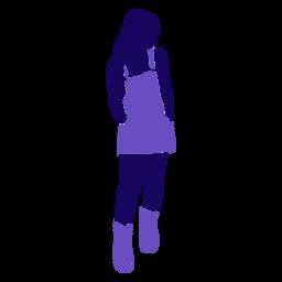 Chica de moda delantal