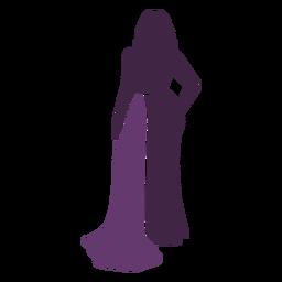 Modelo de moda posando con la mano en la cintura
