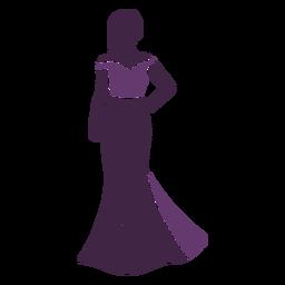 Modelo de moda posando falda