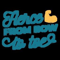Fierce cheerleader lettering