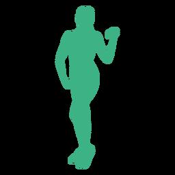 Fitness-Modell Hantel Silhouette
