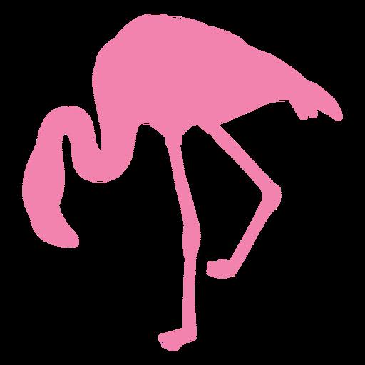 Flamingo bent left side silhouette