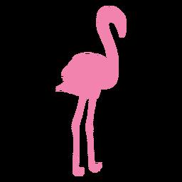Silhueta reta de pé flamingo