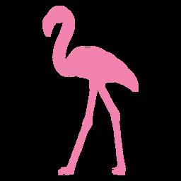 Flamingo caminando silueta