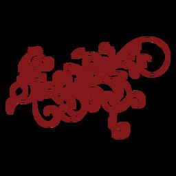 Ornamento complexo de design floral