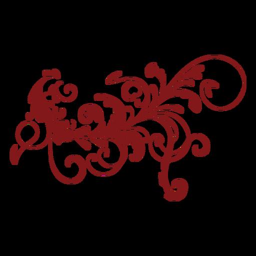 Floral design complex ornament Transparent PNG