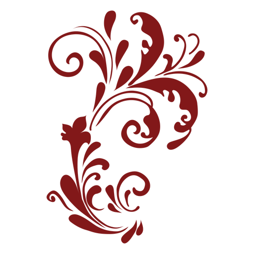 Floral design complex curved ornament Transparent PNG