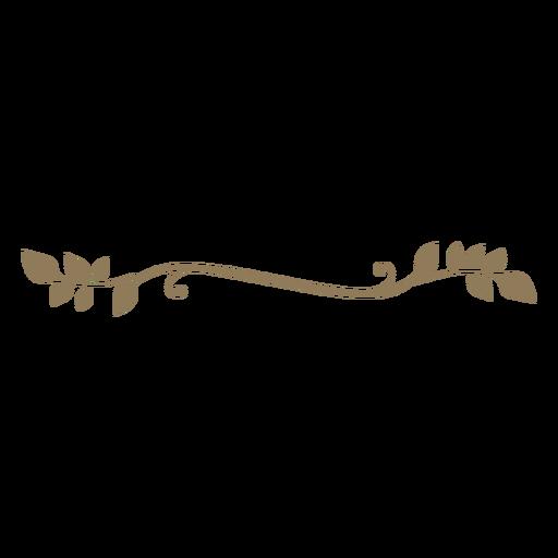 Design floral deixa mão grossa desenhada Transparent PNG
