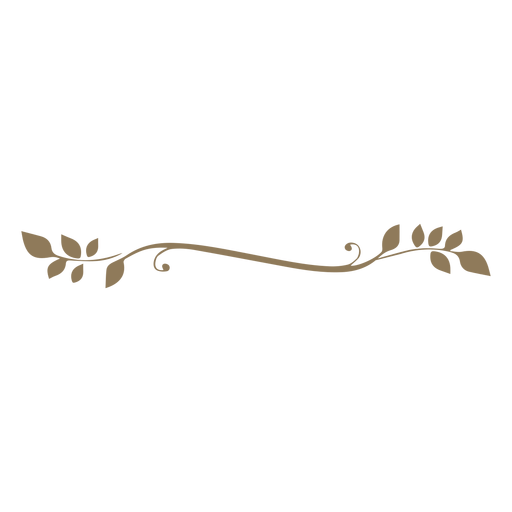 Diseño floral deja dibujado a mano gruesa Transparent PNG