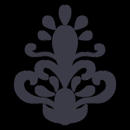 Floral design petals ornament