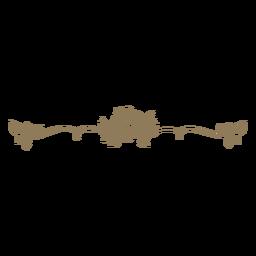 Floral design divider