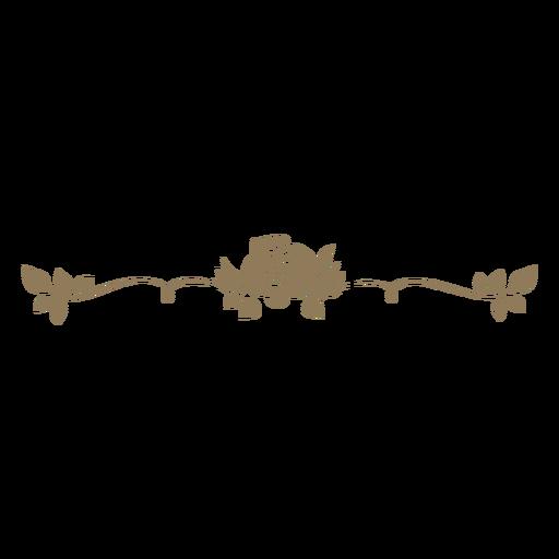 Divisor de diseño floral