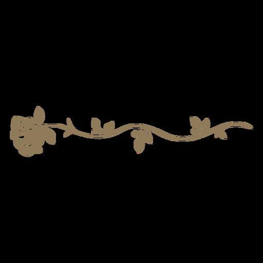 Divisor de flores com design floral