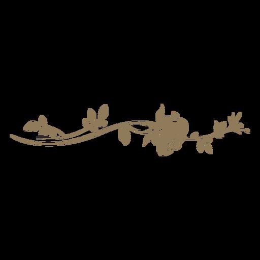 Floral divider with leaves Transparent PNG