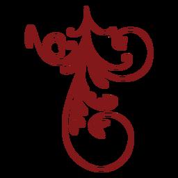Diseño floral simple adorno colgante
