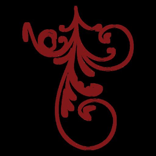 Diseño floral simple adorno colgante Transparent PNG