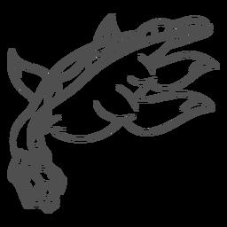 Golpe del dragón de la criatura del folklore