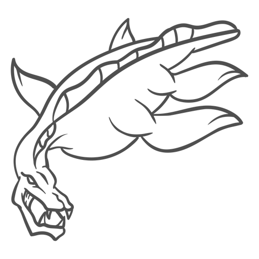 Folklore creature dragon stroke