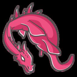 Folklore criatura dragón icono volador