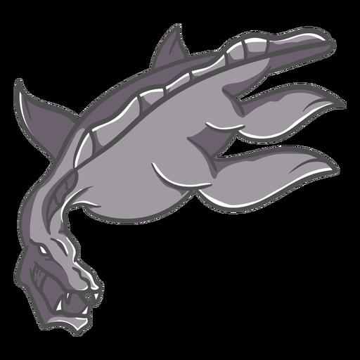 Folklore creature dragon illustration
