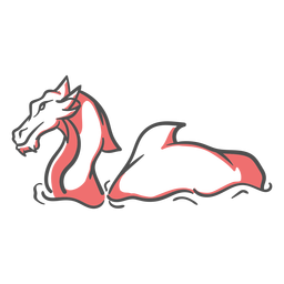 Folklore creature dragon swimming duotone