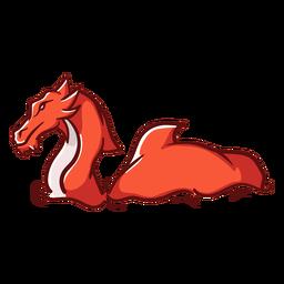 Folklore criatura dragón nadando rojo