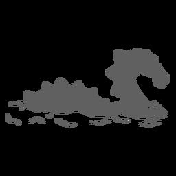 Dragón de criatura de folklore nadando hacia la derecha