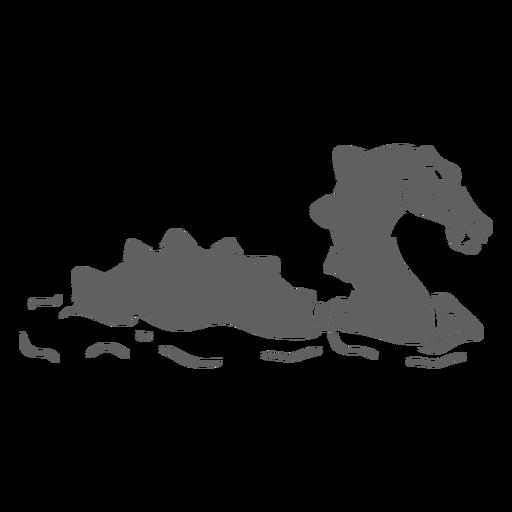 Folklore creature dragon swimming right facing