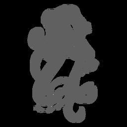 La criatura del folklore kraken enojado