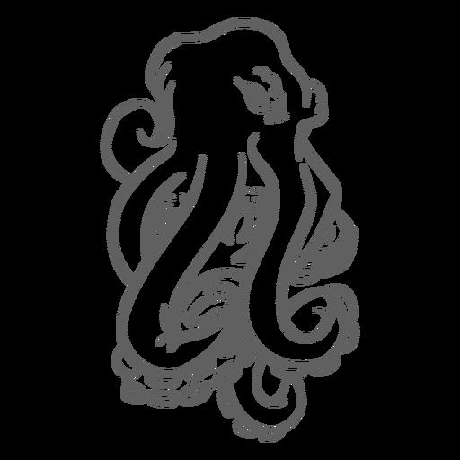 Folklore Creature Kraken Angry Stroke Transparent Png Svg Vector File