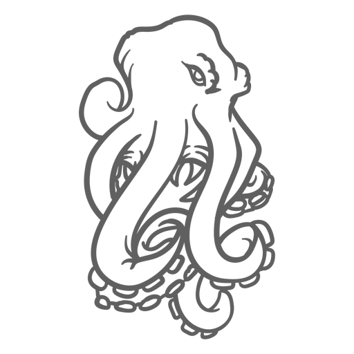 Folklore creature kraken angry stroke