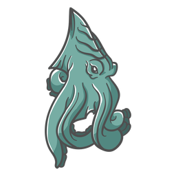 Folklore creature kraken green icon