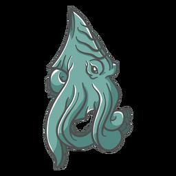 Kraken grünes Symbol der Folklore-Kreatur